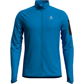 Odlo Steam Midlayer Doorlopende Rits Heren, blue aster melange